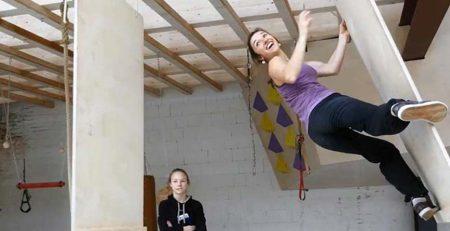 Trénink německé lezkyně