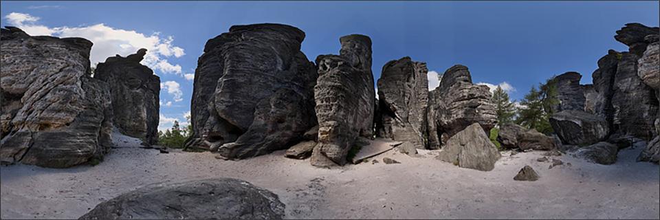 Pískovcové skalní město Tisá